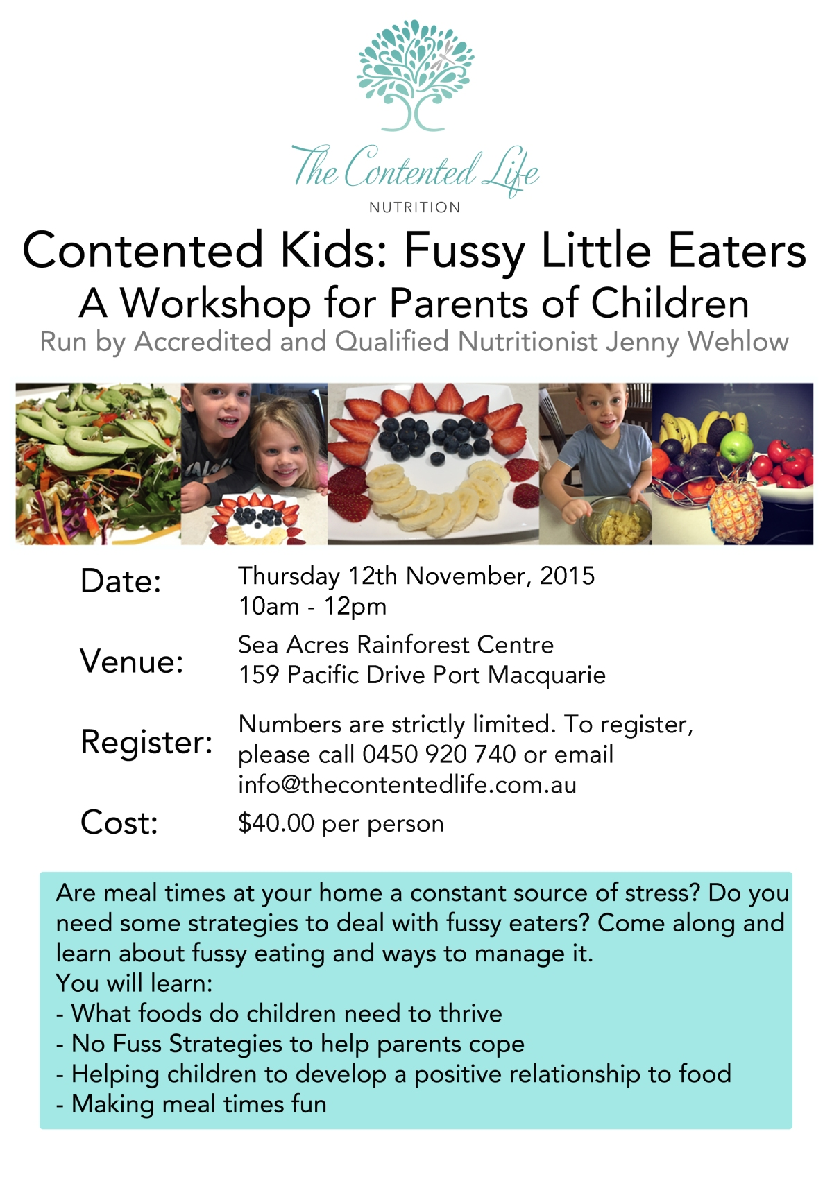 Fussy kids workshopNov15